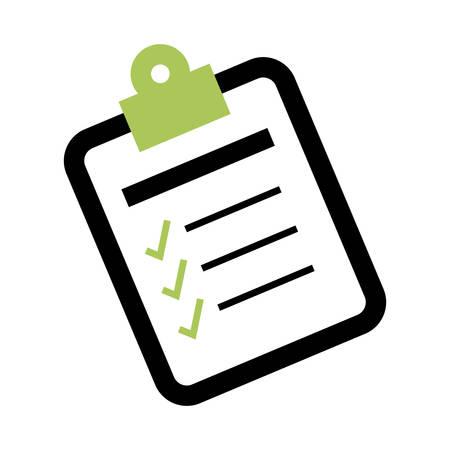 Checklist form symbol icon vector illustration graphic design