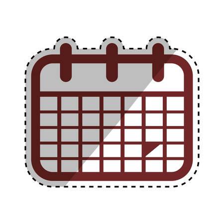 Isolated calendar symbol icon vector illustration graphic design