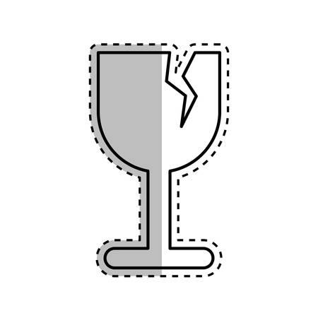 Fragile broken cup symbol icon vector illustration graphic design