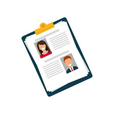 Business curriculum vitae icon vector illustration graphic design Иллюстрация