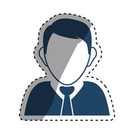 Executive businessman profile icon vector illustration graphic design