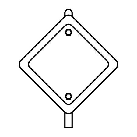 advertising board: Under construction advertising board icon vector illustration graphic design