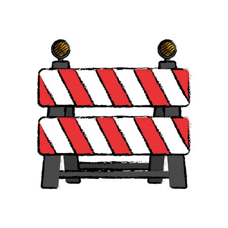 dangerous work: under construction barrier icon vector illustration graphic design