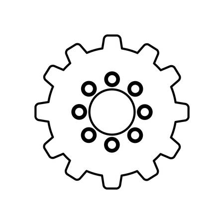 mechanism of progress: Isolated gear piece icon vector illustration graphic design