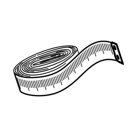 sewing tape measure icon vector illustration graphic design Vettoriali