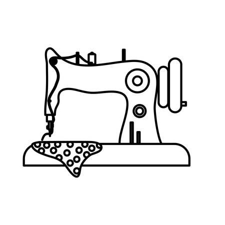Maszyna do szycia na białym tle ikona wektor ilustracja projekt graficzny