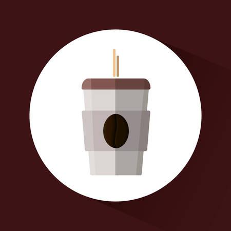 nutriments: Coffee delicious drink icon vector illustration graphic design Illustration
