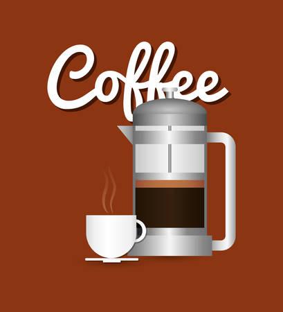 Coffee delicious drink icon vector illustration graphic design Illustration