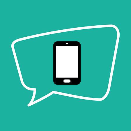 Chat bubble social media icon vector illustration graphic design Illustration