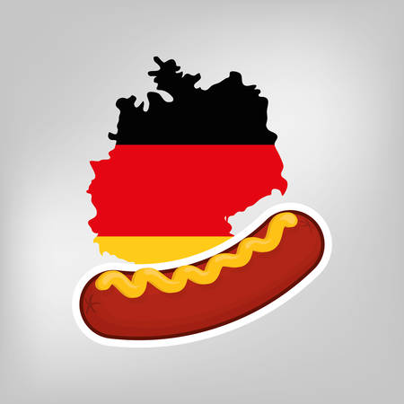 german food: Sausage german food icon vector illustration graphic design icon vector illustration graphic design
