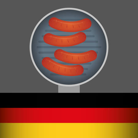german food: Sausage german food icon vector illustration graphic design