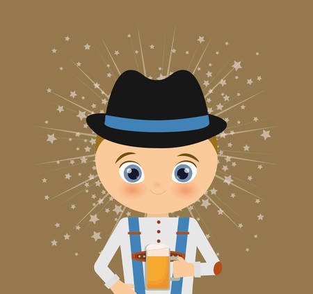 lederhosen: german oktoberfest cartoon icon vector illustration graphic design