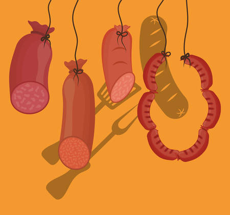 turner: Sausage german food icon vector illustration graphic design