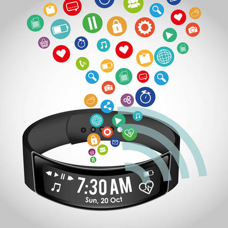 Wearable mobile technology icon vector illustration graphic design Illustration