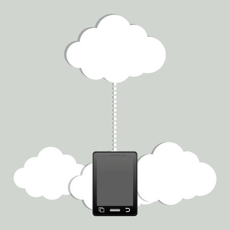 echnology: Cloud computing technology icon vector illustration graphic design Illustration