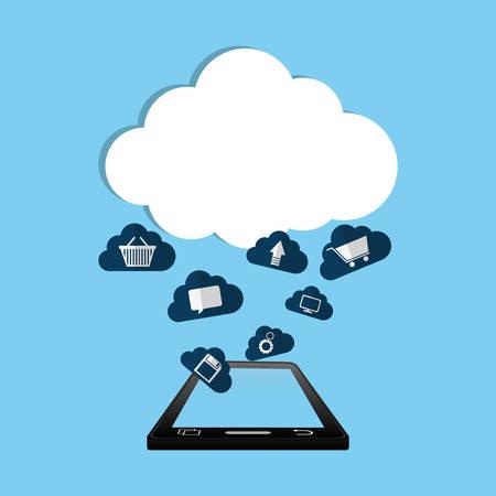 retail equipment: Cloud computing technology icon vector illustration graphic design Illustration