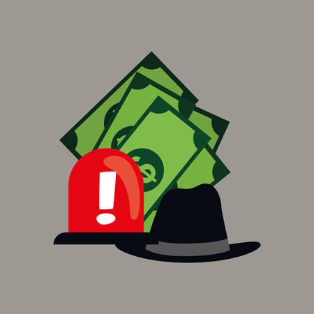 counterfeiting: Counterfeiter money icon vector illustration graphic design icon vector illustration graphic design