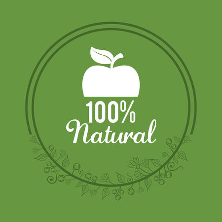 organic food product icon vector illustration graphic design Illustration