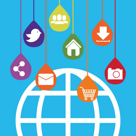 Social media and networking icon vector illustration graphic design