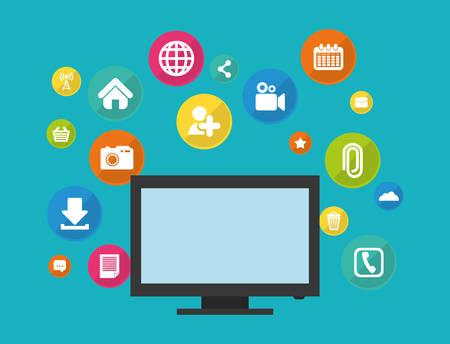socializando: Social media and networking icon vector illustration graphic design