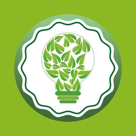 go green ecology icon vector illustration graphic design Illustration