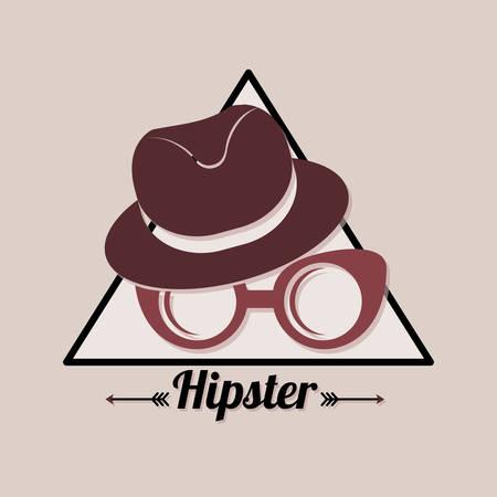 Hipster fashion lifestyle icon vector illustration graphic design
