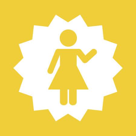woman female pictogram icon vector illustration graphic design