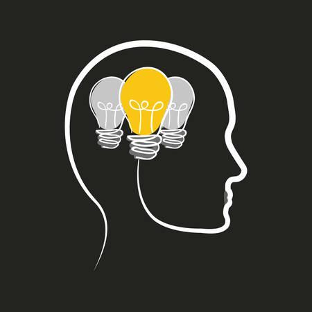 Glühbirne große Idee Symbol Vektor-Illustration Grafik-Design Vektorgrafik