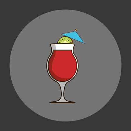 Coktail bar drink icon vector illustration graphic design