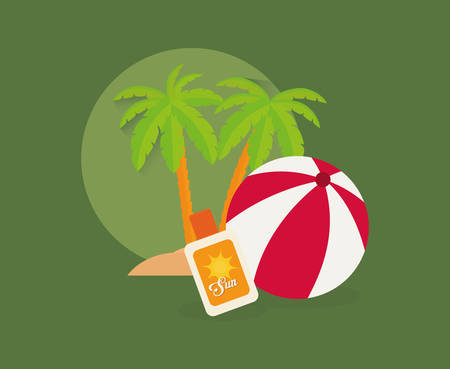 summer vacation travel icon vector illustration graphic design Illustration