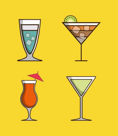Coktail bar drink icon vector illustration graphic design