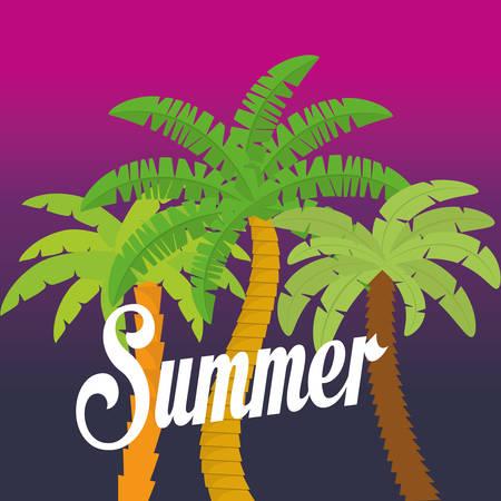 maldives island: summer palms tree icon vector illustration graphic design