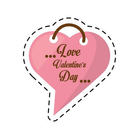 love valentines day card heart shape bubble cut line vector illustration eps 10