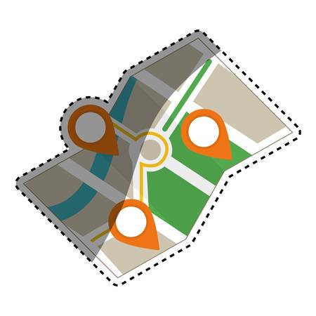 global positioning system: City location map icon vector illustration graphic design