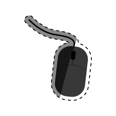 Computer mouse device icon vector illustration graphic design