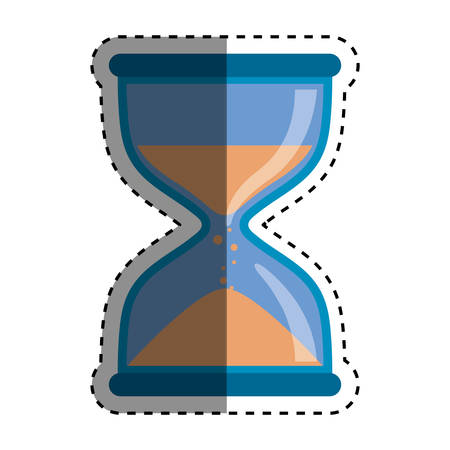 Time clock concept icon vector illustration graphic design