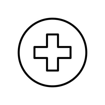 addition: Addition plus sign icon vector illustration graphic design