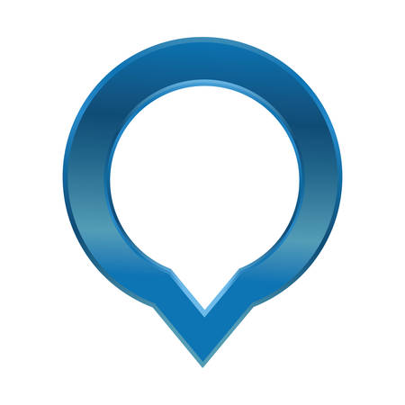 Pin map pointer icon vector illustration graphic design