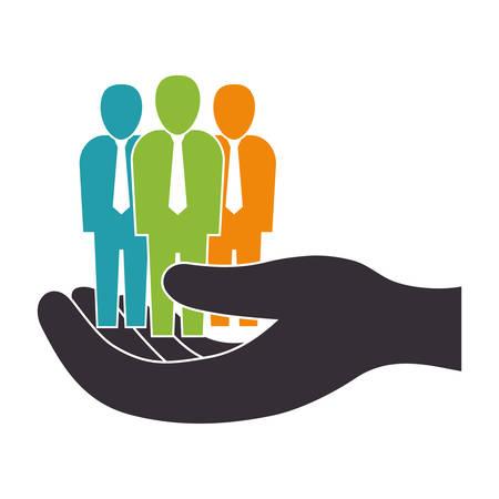 colourful tie: Businessman executive pictogram icon vector illustration graphic design Illustration