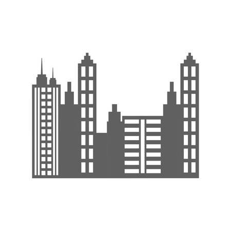 city view: City urban view icon vector illustration graphic design