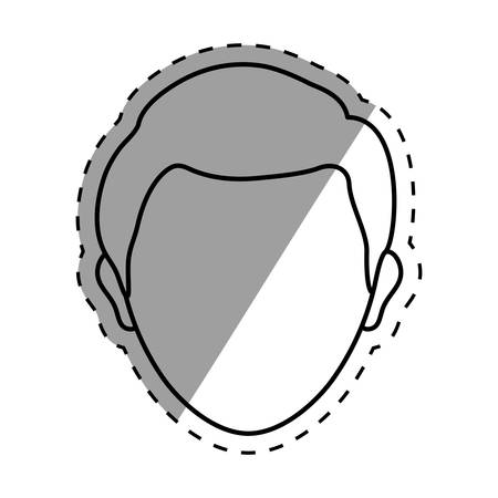 faceless: Man faceless head icon vector illustration graphic design