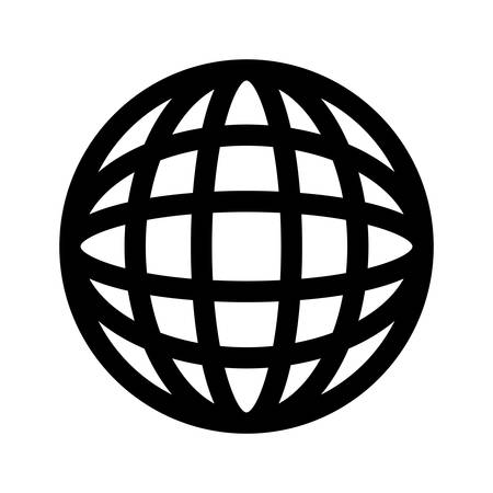 Global sphere symbol icon vector illustration graphic design Illustration