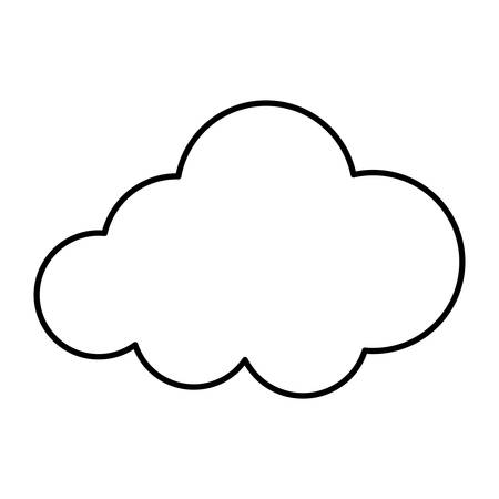 Isolated cloud symbol icon vector illustration graphic design