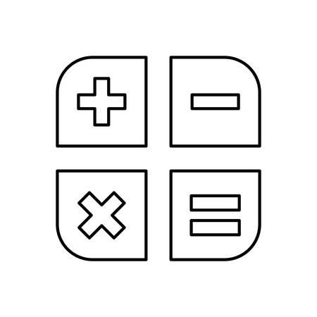 Basic Math Operations Icon Vector Illustration Graphic Design