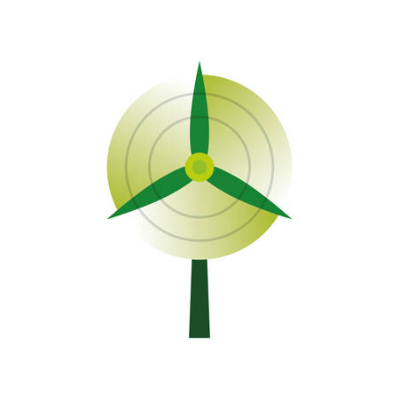 Wind turbine energy icon vector illustration graphic design Illustration