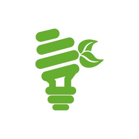 Green energy power icon vector illustration graphic design Illustration