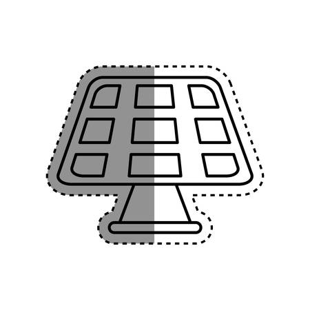 environmental contamination: Green energy power icon vector illustration graphic design Illustration