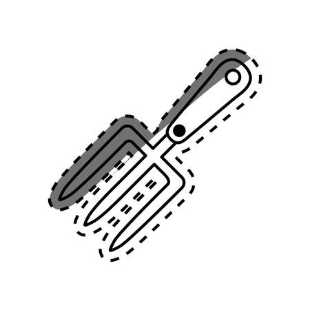 harrow: Harrow gardening tool icon vector illustration graphic design