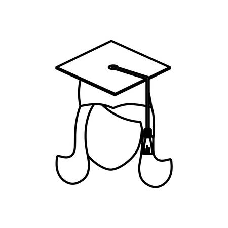 science class: Young student graduation icon vector illustration graphic design