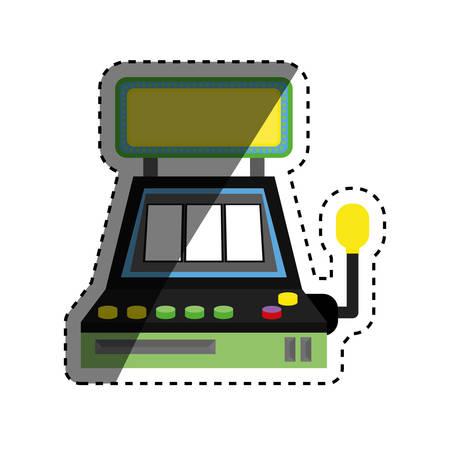 Casino jackpot machine icon vector illustration graphic design